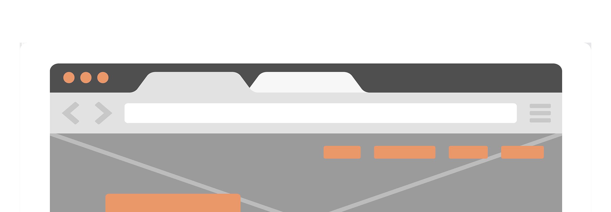 Mockup of a website on an iPad
